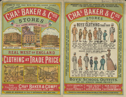 Advert for Chas. Baker & Co, clothier
